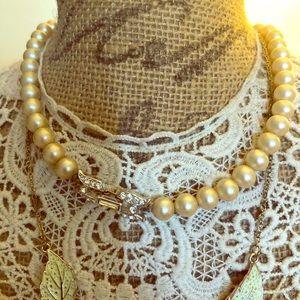 Vintage faux pearl signed Trifari